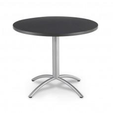 "CaféWorks Café Table 42"" Round, Graphite Granite"