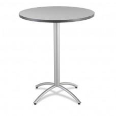 "CaféWorks Bistro Table 36"" Round, Gray"