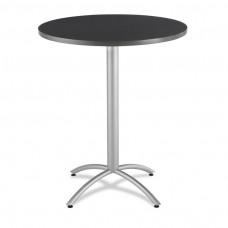 """CaféWorks Bistro Table 36"""" Round, Graphite Granite"""