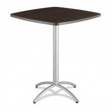"""CaféWorks Bistro Table 42"""" Square, Walnut"""