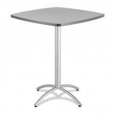 "CaféWorks Bistro Table 42"" Square, Gray"