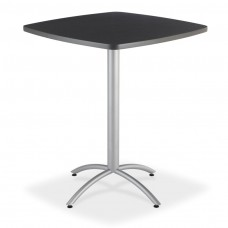 """CaféWorks Bistro Table 42"""" Square, Graphite Granite"""