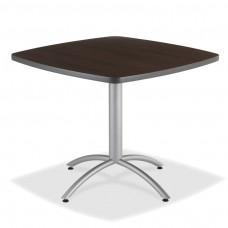 "CaféWorks Café Table 42"" Square, Walnut"