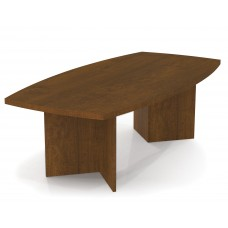 """BESTAR boat shaped conference table with 1 3/4"""" melamine top in Tiscany Brown"""
