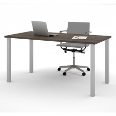 "Bestar 30"" x 60"" Table with square metal legs in Antigua"