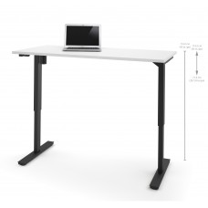 "Bestar 30"" x 60"" Electric Height adjustable table in White"