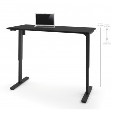 "Bestar 30"" x 60"" Electric Height adjustable table in Black"
