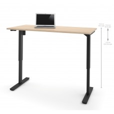 "Bestar 30"" x 60"" Electric Height adjustable table in Northern Maple"