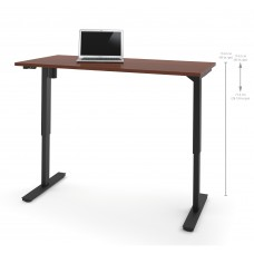 "Bestar 30"" x 60"" Electric Height adjustable table in Bordeaux"
