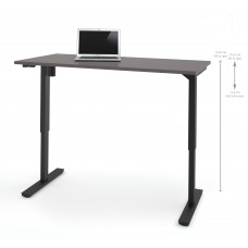 "Bestar 30"" x 60"" Electric Height adjustable table in Slate"