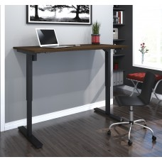 "Bestar 30"" x 60"" Electric Height adjustable table in Tuxedo"
