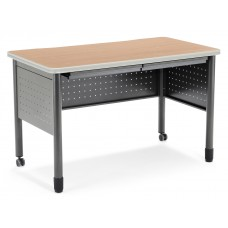 """OFM Mesa Series Mobile Training Table / Desk with Drawers, 25.5"""" x 47.25"""", Maple"""
