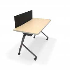 """Mesa Series Nesting Training Table/Desk with Privacy Panel 23.50"""" x 47.25"""", Maple/Black"""