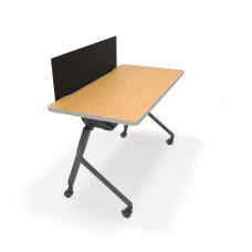 """Mesa Series Nesting Training Table/Desk with Privacy Panel 23.50"""" x 47.25"""", Oak/Black"""