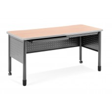 """OFM Mesa Series Mobile Training Table / Desk with Drawers, 27.75"""" x 55"""", Maple"""