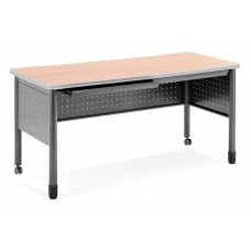 """OFM Mesa Series Mobile Training Table / Desk with Drawers, 27.75"""" x 59"""", Maple"""