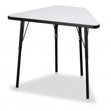 Berries® Tall Trapezoid Desk - Gray/Black/All Black