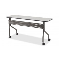 "OfficeWorks Mobile Training Table, 18"" x 60"" - Gray"