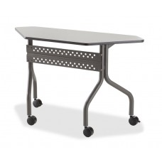 "OfficeWorks Mobile Training Table, 48"" Trapezoid - Gray"