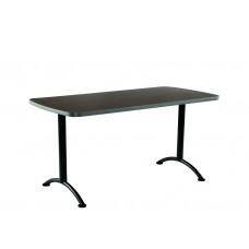 ARC 30x60 Rectangular Table, Walnut /Grey Leg