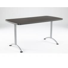 ARC 30x60 Rectangular Table, Grey Walnut /Silver