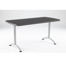 ARC 30x60 Rectangular Table, Graphite /Silver Leg