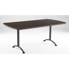 ARC 36x72 Rectangular Table, Walnut / Gray Leg