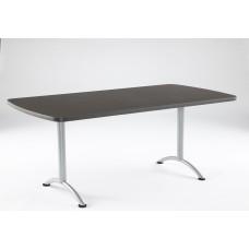 ARC 36x72 Rectangular Table, Grey Walnut / Silver