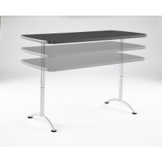 ARC 30x60 Adj Rectangular Table, Graphite /Silver