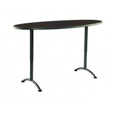 ARC 36x72 Adj Oval Table, Walnut / Gray Leg