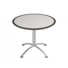 "Urethane 36""Round Table, 29""H, Grey, Silver Base"
