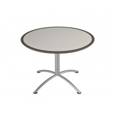 "Urethane 42""Round Table, 29""H, Grey, Silver Base"