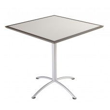 "Urethane 42""Square Table, 42""H, Grey, Silver Base"
