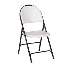 Injection Molded Folding Chair - Adult Folding Chair - Mocha Granite