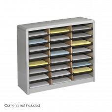 Value Sorter® Literature Organizer, 24 Compartment - Gray
