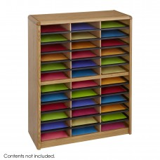 Value Sorter® Literature Organizer, 36 Compartment - Medium Oak