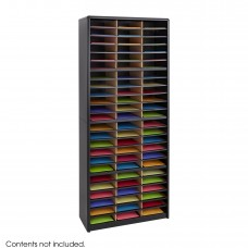 Value Sorter® Literature Organizer, 72 Compartment - Black