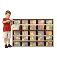 Young Time® 25 Cubbie-Tray Storage - with Clear Trays