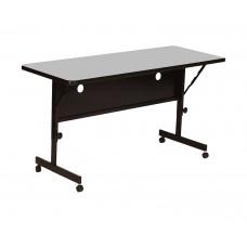 "Deluxe High Pressure Top Flip Top Table - 24x48"" - Gray Granite"