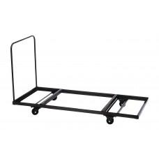Flat Stacking Rectangular Table Truck - 30x90