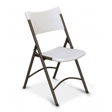 Economy Blow-Molded Folding Chair - Adult Folding Chair - Gray Granite