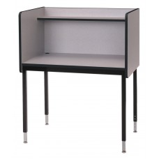 "29"" Fh Single Modular Carrel Starter - Grey Nebula"