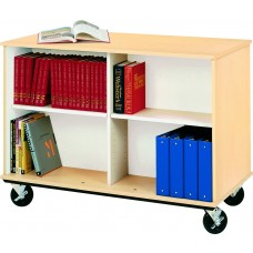 """36"""" Tall - Open Double Sided Book Cart"""