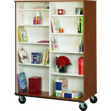 """67"""" Tall - Open Double Sided Book Cart"""