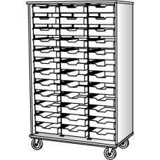 """67"""" Tall - Open Bin Storage, 36 (3') Trays - Without Doors"""