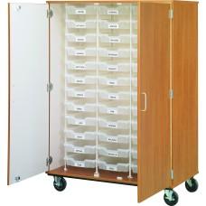 "67"" Tall - Closed Bin Storage, 36 (3') Trays - With Doors, No Lock"