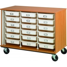 """36"""" Tall - Open Tray Storage, 18 (3-1/2"""") Trays - Without Doors"""