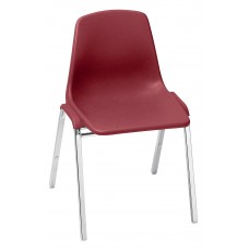 Burgundy Poly Shell Stack Chairs