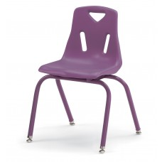 """Berries® Stacking Chair with Powder-Coated Legs - 16"""" Ht - Purple"""