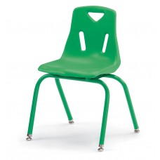 """Berries® Stacking Chair with Powder-Coated Legs - 16"""" Ht - Green"""
